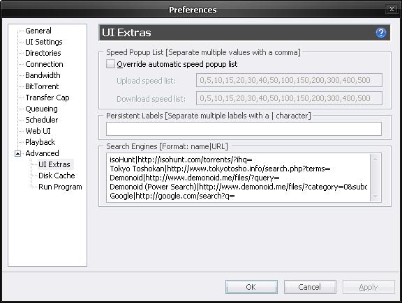 utorrent search engines list