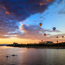 The morning of balloons by Edward Luong - Landscapes Travel