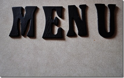 MENU letters
