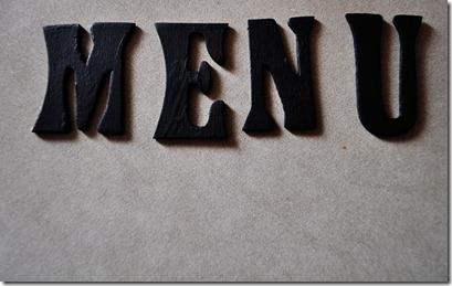 MENU letters