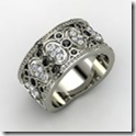 White Gold Ring with Black Diamond & Diamond