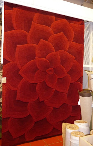 Resembling A Contemporary Design Iu0027d Likely Find At A High End Boutique  Downtown, I Have Totally Developed A Crush On This Red Rose Tufted Wool Rug.