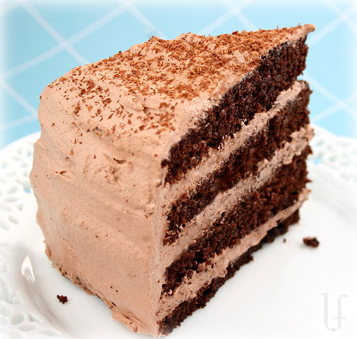 Cake With Chocolate Whipped Cream Frosting : Stick to your hips!: Dark and Lovely!