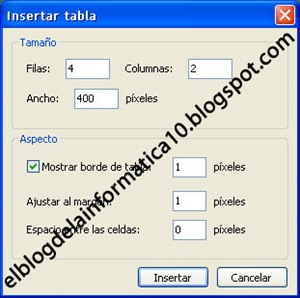 Insertar tabla con Windows Live Writer