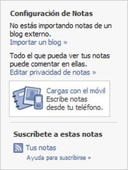 Enlazar Facebook con nuestro blog