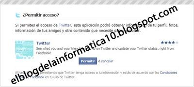 Actualizaciones de Twitter en Facebook