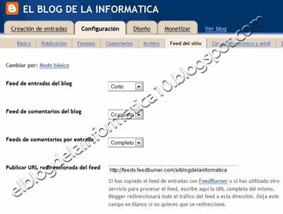 Acortar entradas feed RSS