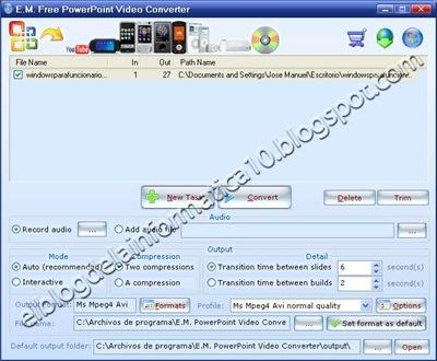Convertir powerpoint a vídeo