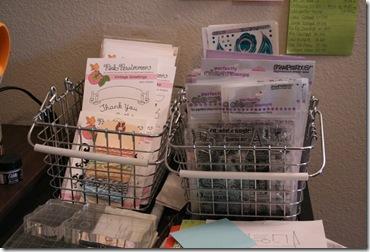 Stamp Storage Shower Baskets
