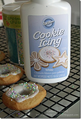 Skipping Stones Donut Cookies Frosting