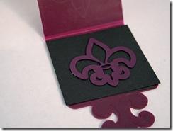 black paper fleur de lis