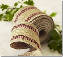 Burlap Ribbon Pottery Barn
