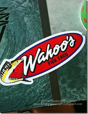 Wahoo Fish Taco signage