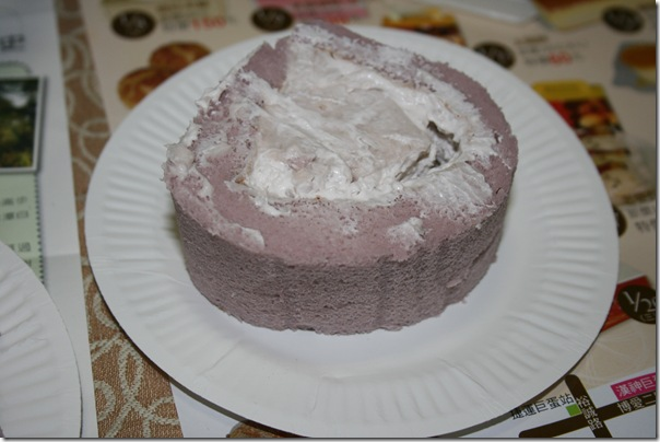 宜蘭羅東日式芋頭奶凍 切開