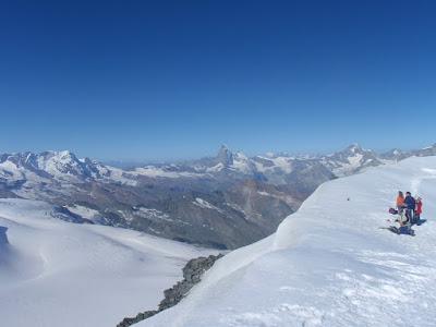Coll de Feejoch, amb el Matterhorn al fons
