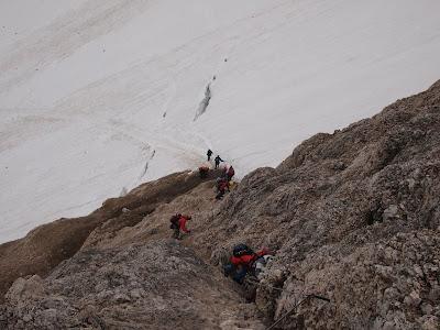 Baixant cap a la glacera