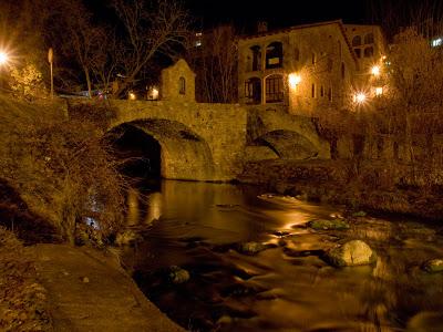 Pont vell de Bagà, al vespre
