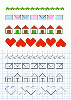 Dibujos en hojas cuadriculadas para imprimir for Disegnare casa 3d gratis italiano