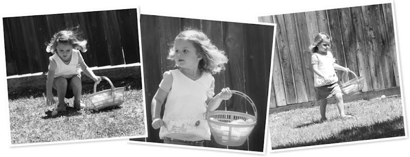 View black and white easter hunt