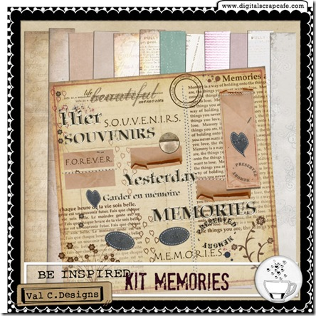 BI - preview Kit Memories Val c. designs