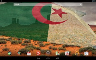 Screenshot of 3D Algeria Flag Live Wallpaper