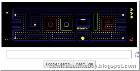 Google Logo: PAC-MAN's 30th Birthday!