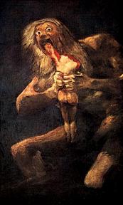 Saturn devouring his son, Goya