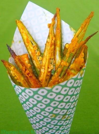 Yasmeen Health Nut: Ladies Fingers(Okra) fries