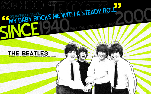 The Beatles wallpaper from Kristan Franco