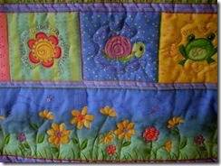 baby's quilt detail