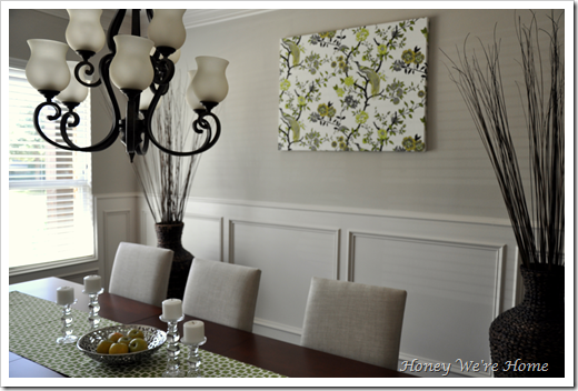 Honey we 39 re home fabric canvas wall art for Dining room canvas wall art