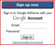 sign up adsense
