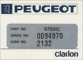 Peugeot Codecard