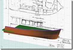 P375deck sketch overlayed on hull