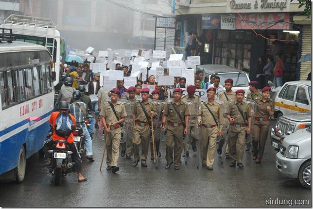 SHDC Mizoram Anti Dam Protest 4