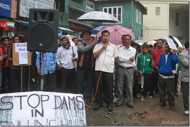 SHDC Mizoram Anti Dam Protest 15