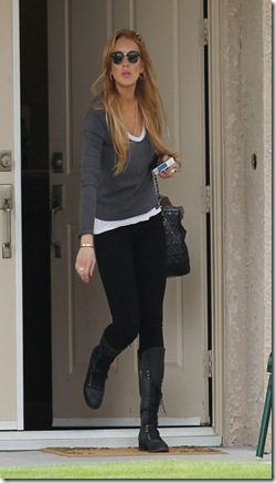 _EXCLUSIVE_ Rancho Mirage_ CA _ Lindsay Lohan steps out of her home this morning as she prepares for another day of treatment at the _Betty Ford Clinic_.   Lindsay seems to be doing great this time around_ looking healthier day by day.  Today she emerges wearing knee high boots and carrying her pack of cigarettes in hand.&#10;&#10;GSI Media    December 4_ 2010&#10;&#10;To License These Photos_ Please Contact _&#10;&#10;Steve Ginsburg&#10;_310_ 505_8447&#10;_323_ 4239397&#10;steve_ginsburgspalyinc.com&#10;sales_ginsburgspalyinc.com&#10;&#10;or&#10;&#10;Keith Stockwell&#10;_310_ 261_8649&#10;_323_ 325_8055 &#10;keith_ginsburgspalyinc.com&#10;ginsburgspalyinc_gmail.com