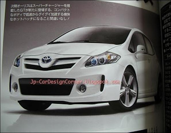 Surge suposta imagem da nova geração do Toyota Auris