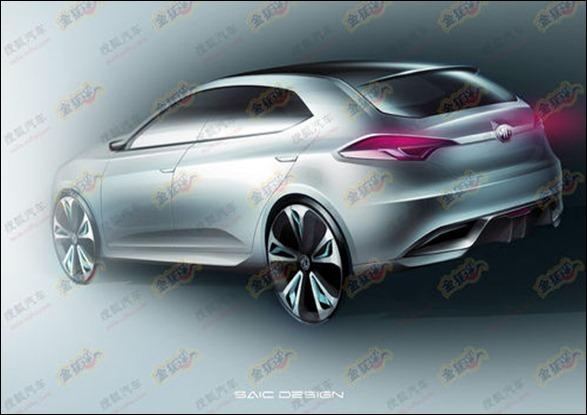 Imagens do conceito MG5 para Xangai