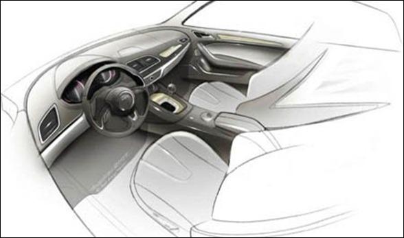 Sketchs antecipam Novo Audi Q3 que estará em Xangai