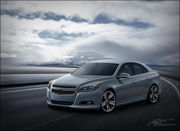 Nova projeção do Chevrolet Malibu 2012