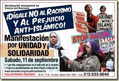 MANIFESTAÇÃO CONTRA O RACISMO E O ANTI ISLAMISMO