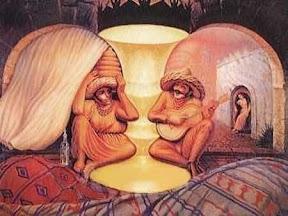 Optical Illusion: Old couple