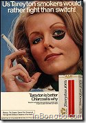 BLACK EYEd LADY - US Tareyton smokers would rather fight than switch!