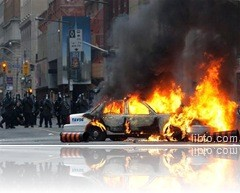 TO police car burning