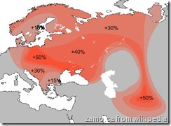 Haplogroup R1a distribution