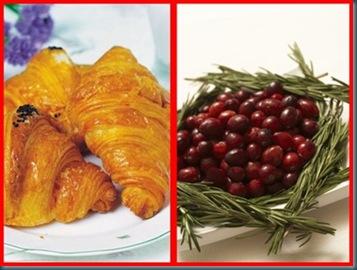 combo croissants cranberry