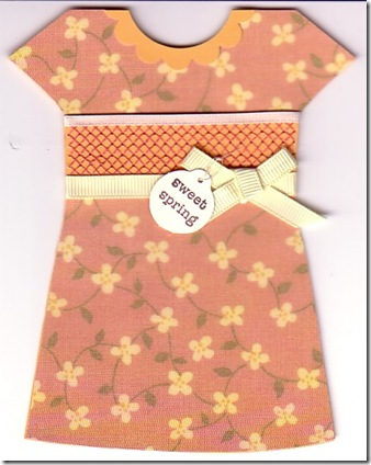 Dress Card with Collar
