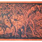 biodiversité n°1 sur papier himalaya linogravure 25x30cm