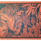biodiversité n°2 sur papier himalaya linogravure 25x30cm